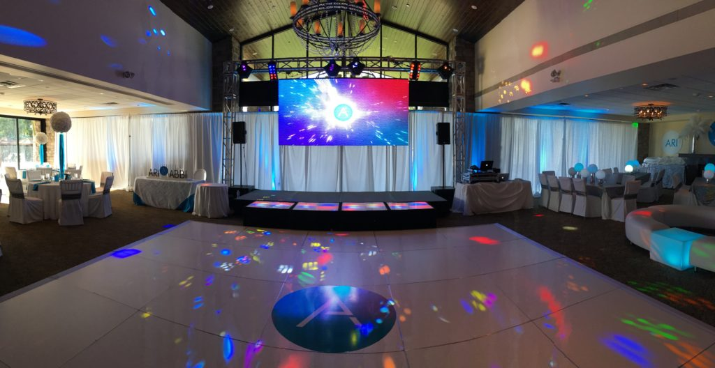 LED Screen at Social Event, affordable, Bar Mitzvah, Bat Mitzvah, Scottsdale, Phoenix, Arizona